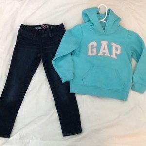 Gap hoodie and jeans